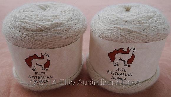 HWTY-2 - Huacaya Yarn - White - 2ply