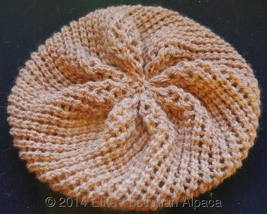 HT08 - Trendy Beret - Light Fawn