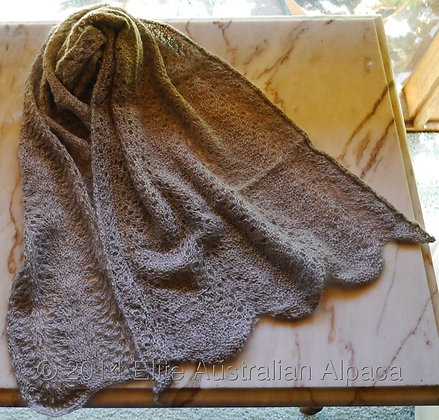 SF08 - Lacy Scarf - Medium Grey