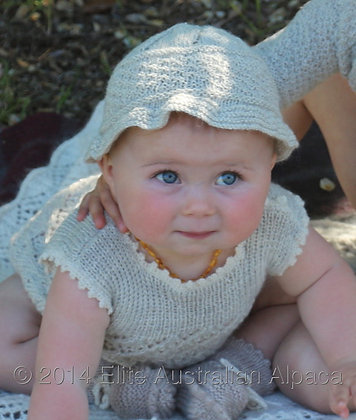 BS01 - Cute Baby Hat with Brim - Light Grey