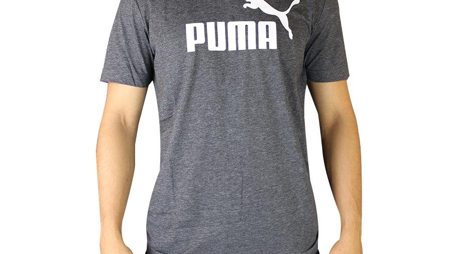 PUMA PLAYERA GRIS MANGA CORTA Logo   | 852419