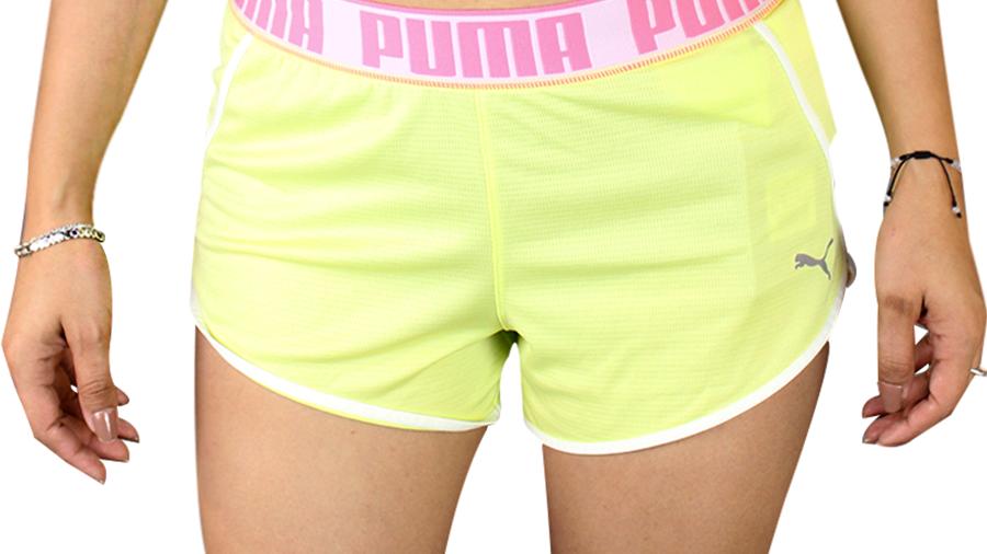 PUMA Sports Shorts  verde  resorte rosa  Dama |519043