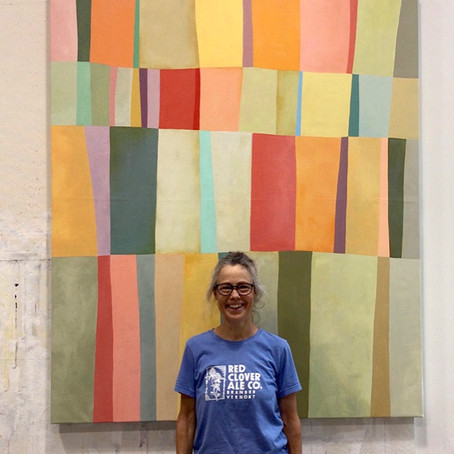 Soulful Stripes: The Abstract Work of Jane Davies