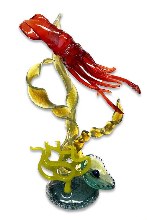 Bryan Randa, Glass Squid Sculpture