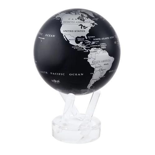 Black and Silver Rotating Globe