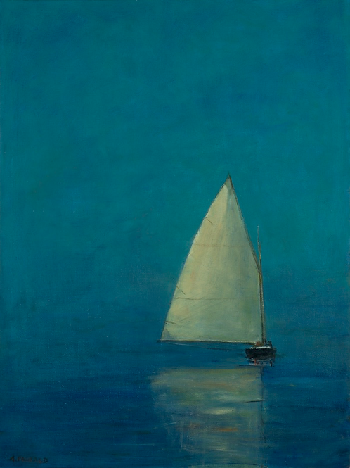 Anne Packard, Catboat En Bleu