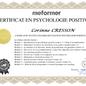 Certificat Psychologie Positive - corinne cresson - Massangel - ardèche 07 - St-Sernin