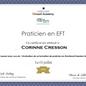 Certificat EFT technique de libération des émotions massangel Corinne Cresson