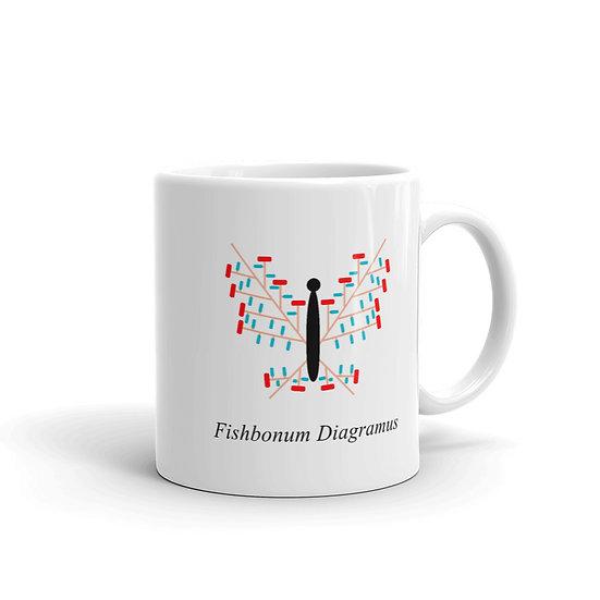 Datavizbutterfly - Fishbonum Diagramus - Mug