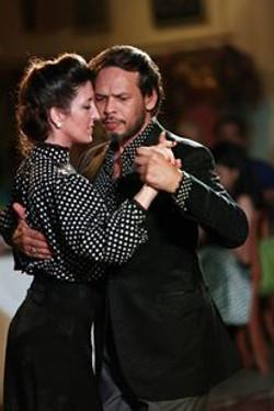Fabian Perelta con Josefina Bermudez