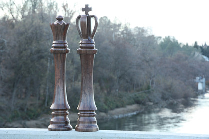 King & Queen Life Size Chess Pieces.JPG
