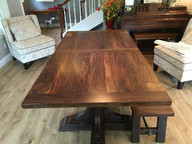 6.5' Fir & Claro Walnut Dining Table WithBench