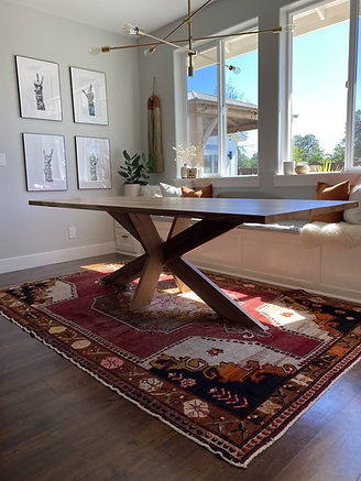 French X dining table