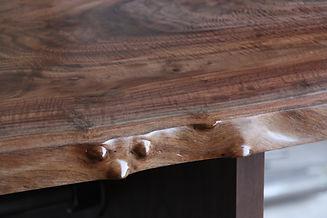 live edge claro walnut dining table