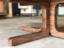 Modern Claro Walnut Burl Coffee Table