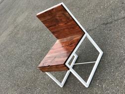 Claro Walnut & Steel Chair