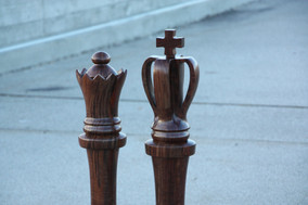 King & Queen Life Size Chess Pieces