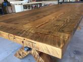 9' Industrial Barnwood Table