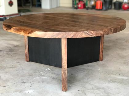 Claro Walnut & Steel Coffee Table