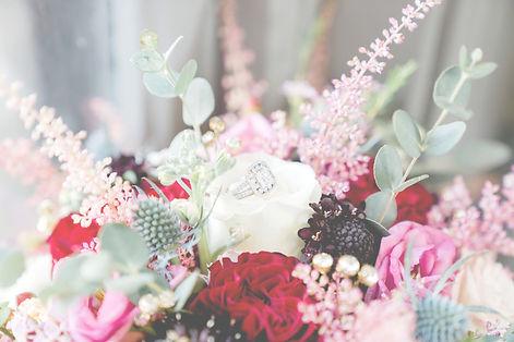 Beautiful ring wedding bouquet