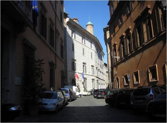 Palazzo Delfini, site of cretarome studio