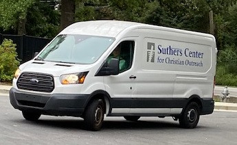 Suthers' van arriving with its first food delivery!
