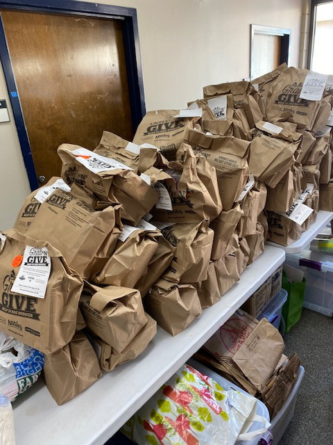 Sprouts bags everywhere during the holidays!
