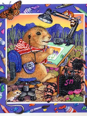 Prairiedog Artist Illustration