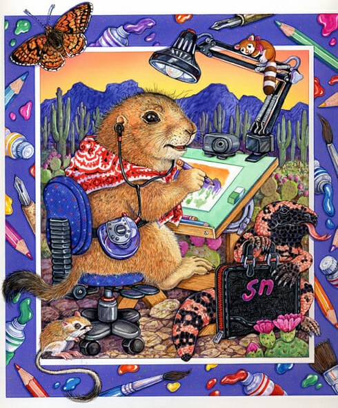 Prairiedog Artist Illustration