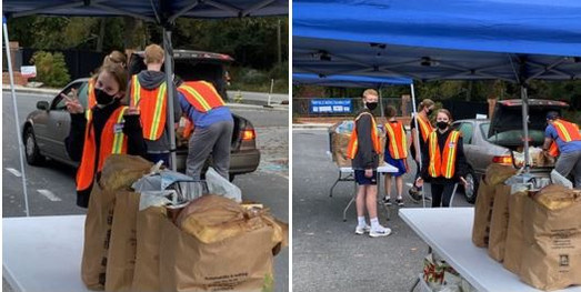 High school students doing community service hours.