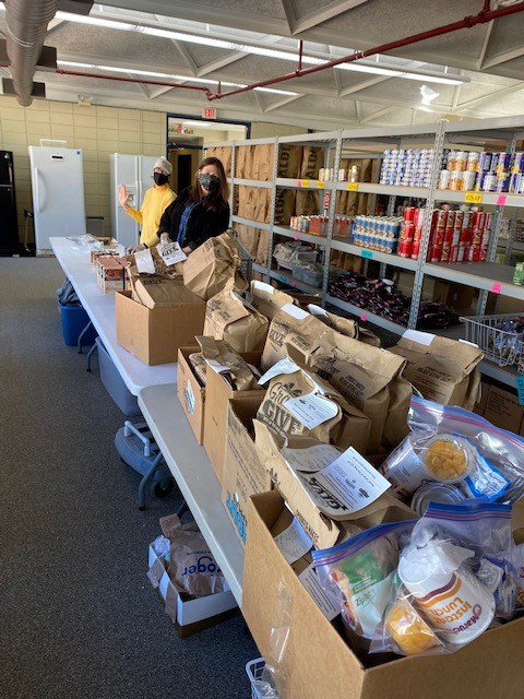 Sprouts provided food bags donated by their patrons.