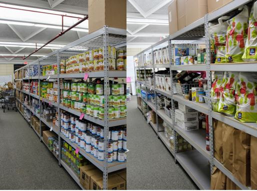 2,000-5,500 lbs. of food stocked weekly from the Atlanta Community Food Bank.