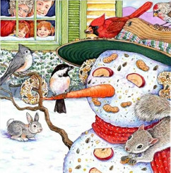 Snowman and Winter Friends