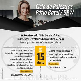 Ciclo de Palestras: Pátio Batel + BPW Curitiba