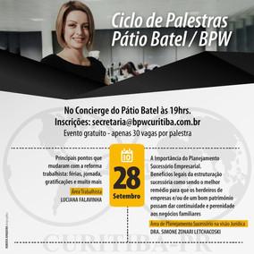 Ciclo de Palestras Pátio Batel