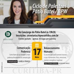 Ciclo de Palestras 17/05/2018 - Pátio Batel / BPW