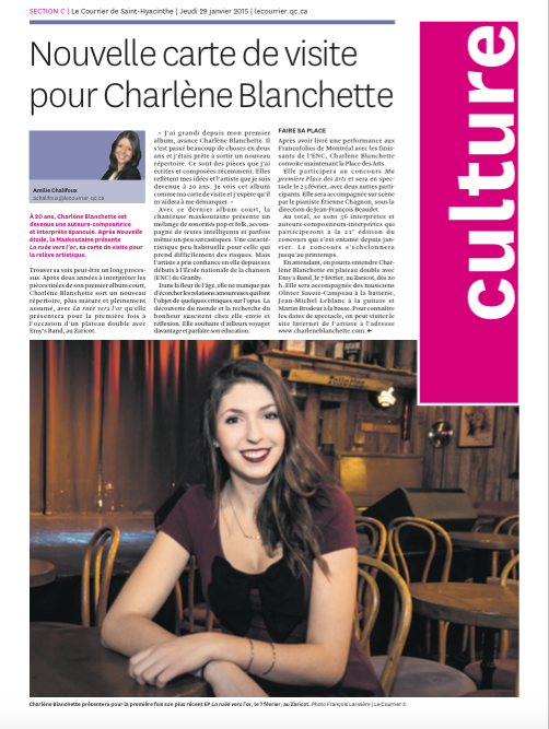St-Hyacinthe Charlène Blanchette
