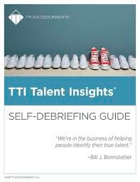 TTI Talent Insights Self-Debriefing Guide (Download)