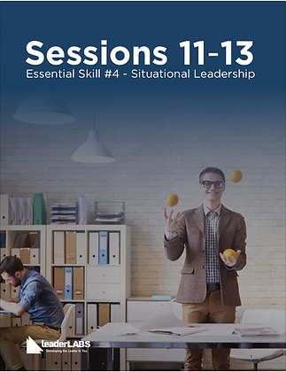 LeaderLabs 10es: SESSIONS 11-13 Situational Leadership PDF Workbook
