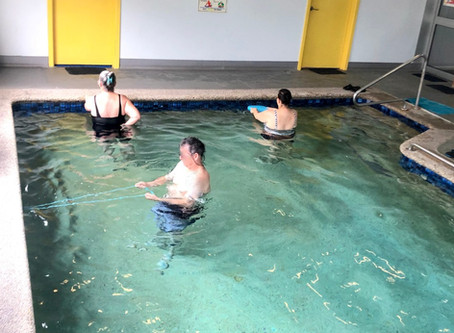 Our hydrotherapy pool - exercising in comfort