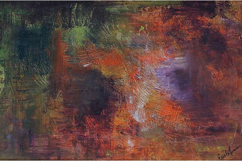 Groviglio (1995/97); olio su tela, 40x60 cm