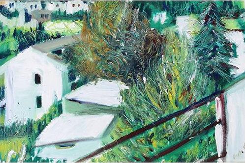 """Dall'attico"" (1995/97); olio su tela, 40x60 cm"