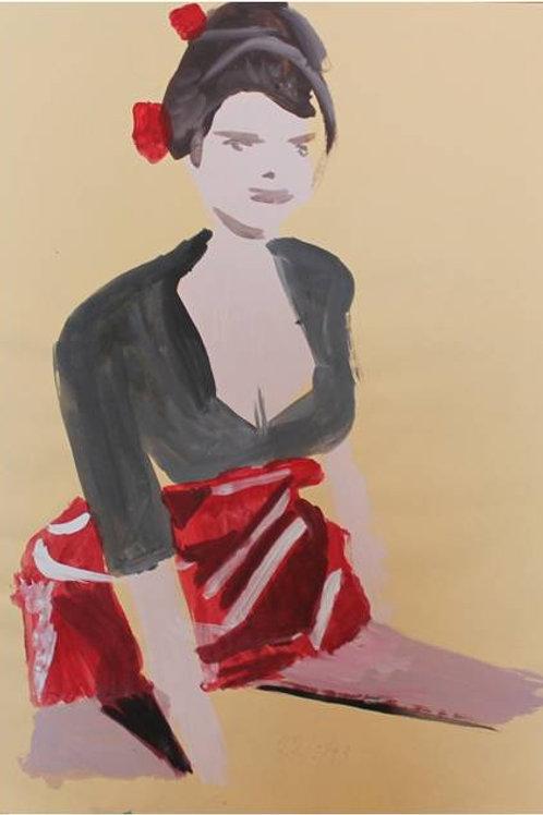 Nancy (1993); acrilico su carta, 48x33 cm