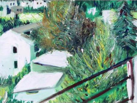 Dall'attico (1995/97); olio su tela, 40x60 cm