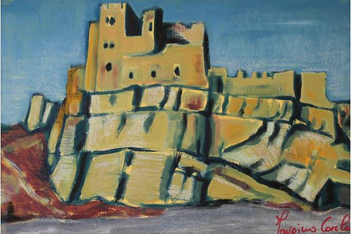 """""""Vestigia"""" (1997); acrilico su carta, 35x50 cm"""