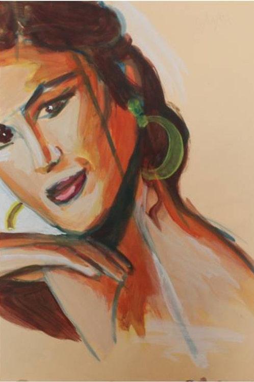 Cindy (1993); acrilico su carta, 48x33 cm