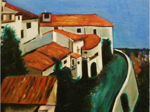 """""""Trebisacce"""" (1997); acrilico su tela, 50x60 cm"""