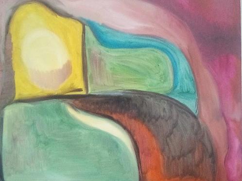 """Composizione"" (2008); olio su tela, 50x40 cm"
