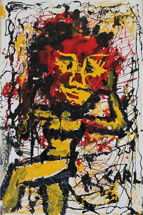 """""""Pagliaccio"""", 40x60cm, tecnica mista su tela, 1995/97"""