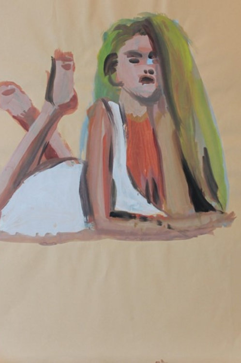"""Soraya"" (1993); acrilico su carta, 48x33 cm"